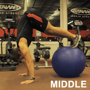 This is middle position for one of the most effective ab exercises - Pike