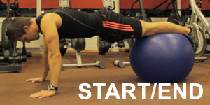 This is starting position for one of the most effective ab exercises - Pike