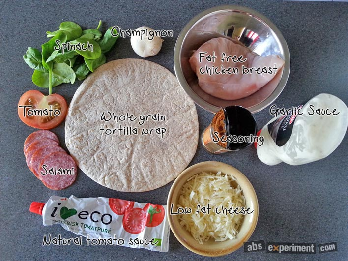 Fitness Pizza Ingredients