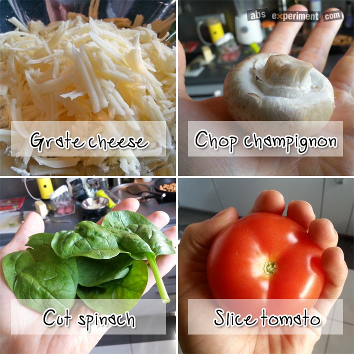 Fitness pizza - step 2 - prepare ingredients