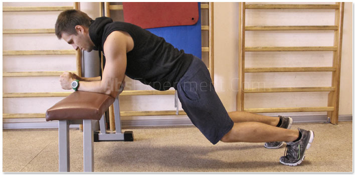 Bench Plank With Knees Bent