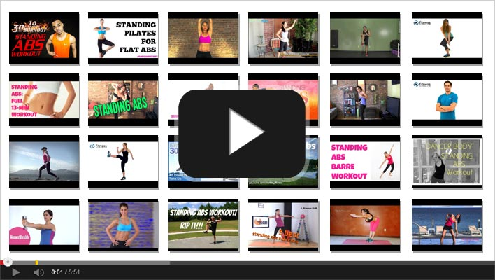 45 The Most Loved Standing Abs Workout Routines on You Tube