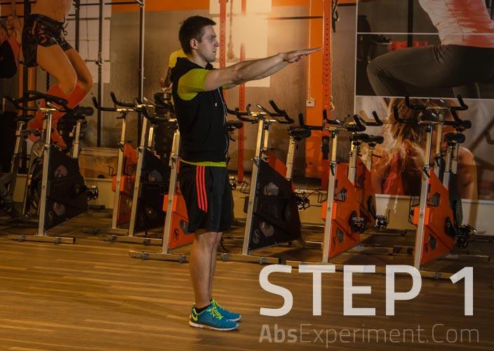 Standing leg lifts - step 1