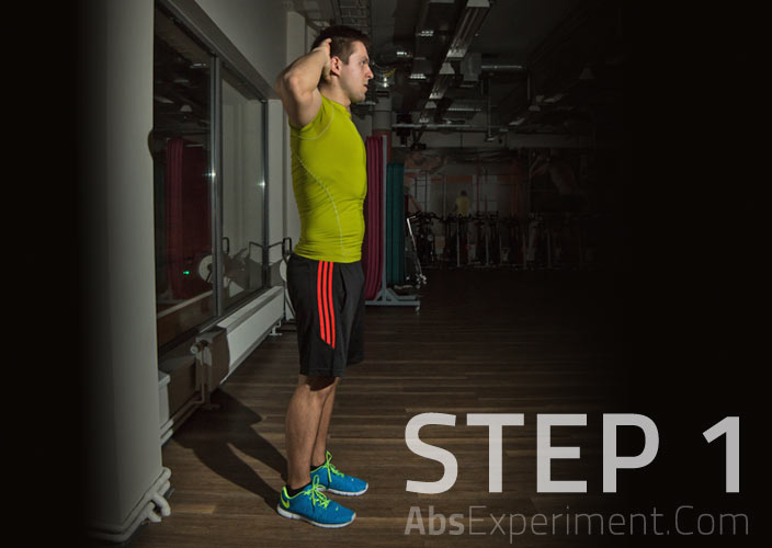 Standing Crunches Step 1