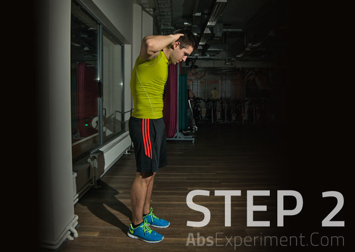 Standing Crunches Step 2