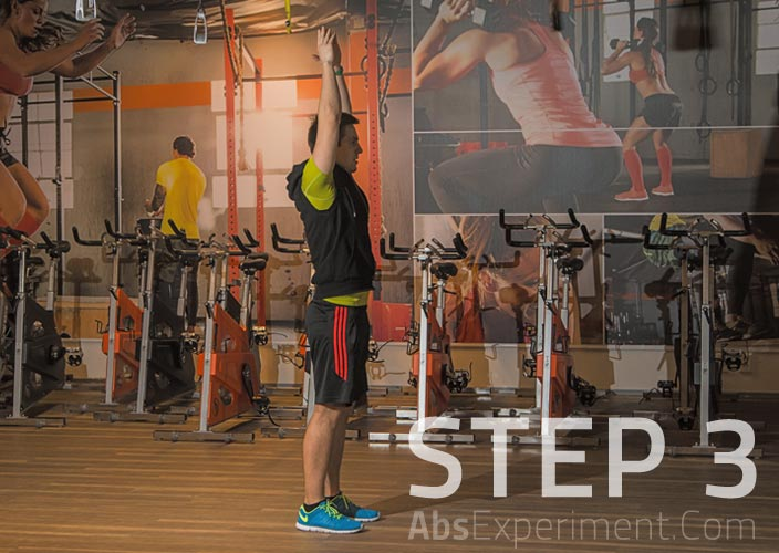 Standing Knee Raises Step 3