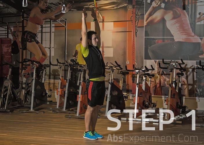 Standing Single Leg V-Ups Step 1