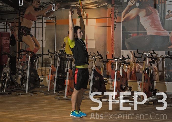 Standing Single Leg V-Ups Step 3