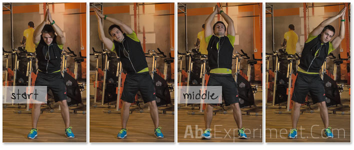 Standing Overhead Circles - #10 of 10 standing abs exercises